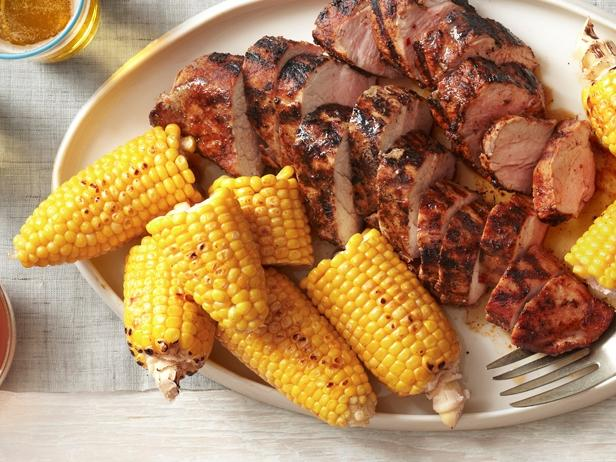 Grilled-Pork-Tenderloin-with-Corn-on-the-Cob