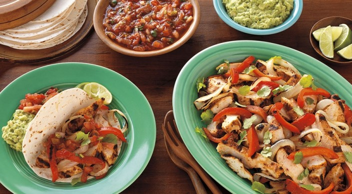 Chipotle-Orange Chicken Fajitas