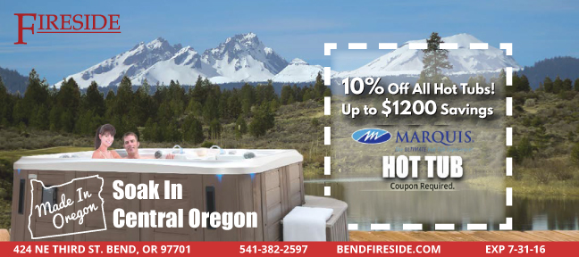 Soak in Central Oregon! Up to $300 off a Marquis hot tub