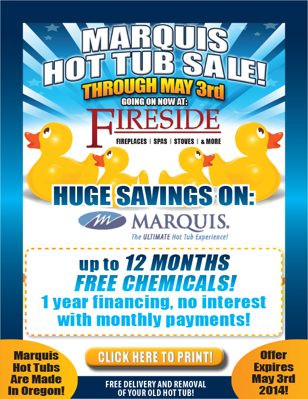 Marquis Hot Tub Sale - Fireside of Bend | Central Oregon\'s Fireplace ...
